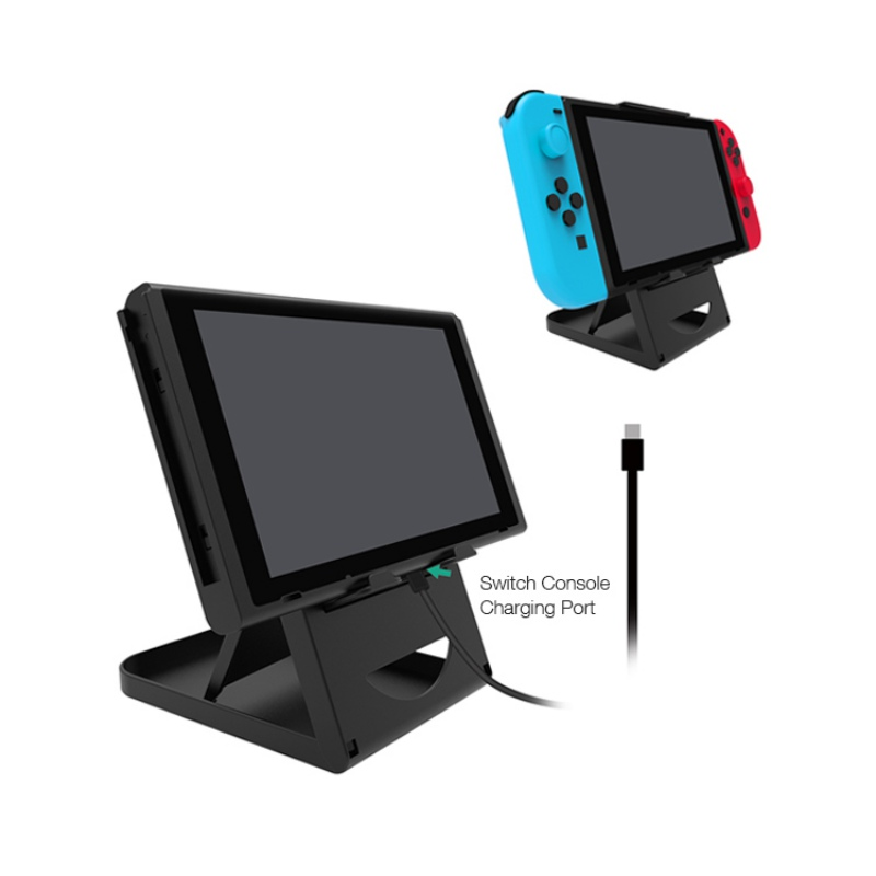 Portable Multi-Angle Collapsible Lightweight Desk Stand Desktop Cradle for Nintendo Switch Host Console цена и фото