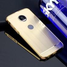 Матовый чехол для Motorola Moto Z Play XT1635 5.5 «PC Зеркало задняя крышка Z2 играть покрытие металлический каркас набор телефон Coque Fundas