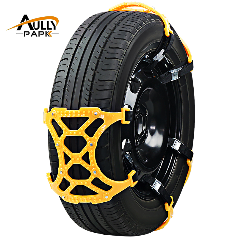 6Pcs Set TPU Snow Chains Universal Car Suit 175 275mm Tyre Winter Roadway Safety Tire Chains