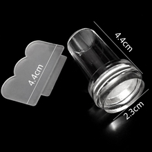 1pcs Nail Art Stamper + 1pcs Scraper New Clear Transparent Nail Art Soft Silicone for Stamp Printing Tools Small Size TRND251 cheap CN(Origin) Template 1 sets Stamping 100 New Arrivial Clear Nail Stamper Polish Design Print High Quality Stamper Nail Art Stamping Tools