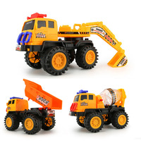 Large Size Sliding Children Plastic Engineering Car Excavator Mixer Truck Toy