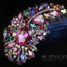 4,9 дюймовая роскошная брошь с разноцветными кристаллами Красивая Ювелирная булавка