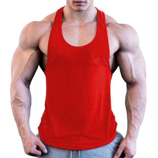 Men Sport Gym Workout Fitness Stringer Weight Loss Singlets Vest Shirt Breathable Male Running T-Shirt Sport Shirt 3