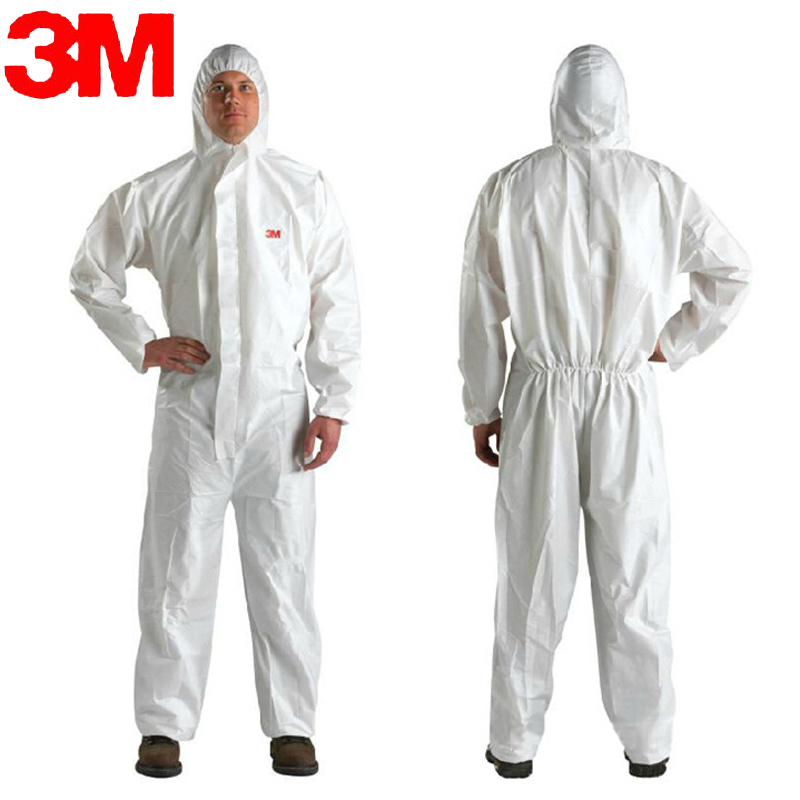 3M 4510White Non Woven fabric Coverall Clothes Anti static and Anti chemical liquid splash and effective