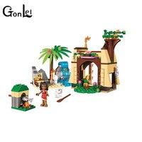 GonLeI 10662 206pcs Girls Friends Princess Vaiana Moana Ocean Voyage Bela Building Block Compatible 41149