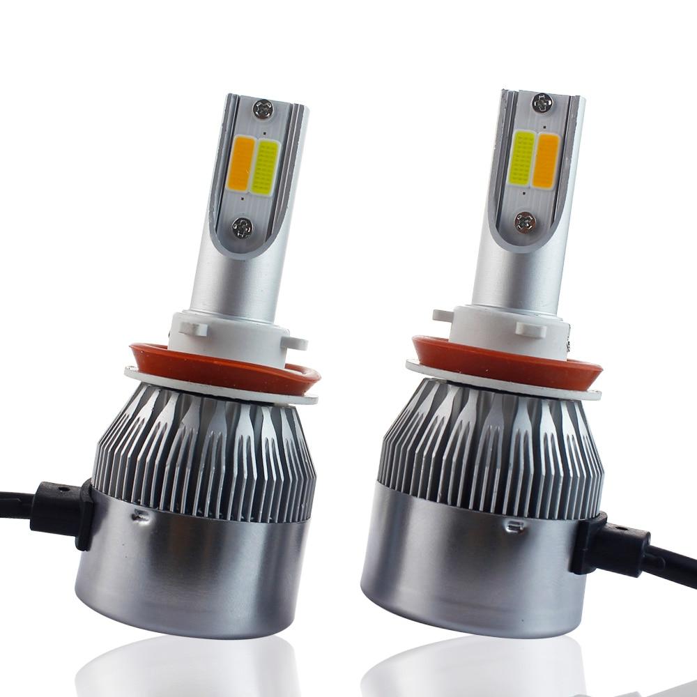 H7 Led 4300K H4 Hi/Lo H7 H11 9005 9006 H11 LED Car Headlights 7600lm 3000K 6500K High Brightness Auto Lights Conversion Kit