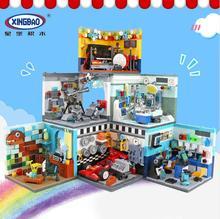 6 видов XINGBAO Dreamer строительные блоки, кирпичи, набор для дома, художник, учёный, музыкальный доктор, астроном, игрушечные гоночные автомобили для детей