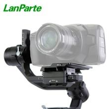 Lanparte dji ronin s/ronin sc placa de câmera offset placa da câmera para bmpcc 4 k blackmagic para ronin s cardan acessórios