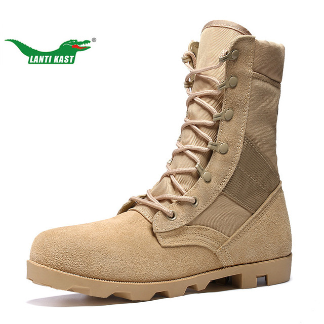 e4d5320d0 LANTI KAST Men Hiking Boots Fall New Arrival High Top Military Boots Men  Durable Non-slip Lace Up Sport Shoes Trekking Botas Men