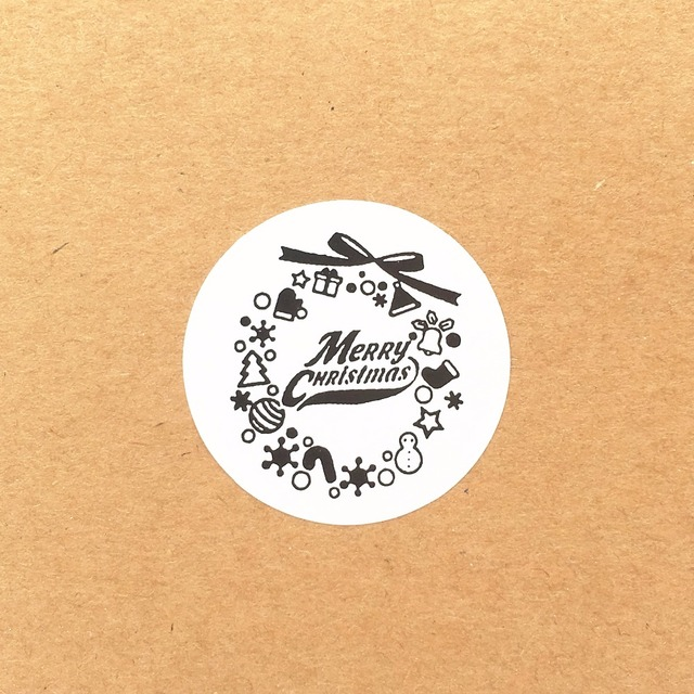 3 5cm white paper merry christmas stickers diy gift label sticker packing labels gift box