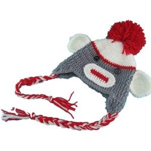 Шапки ручной работы QYFLYXUEQYFLYXUE, хлопок, шапки обезьяны, серые милые обезьянки, детские шапки