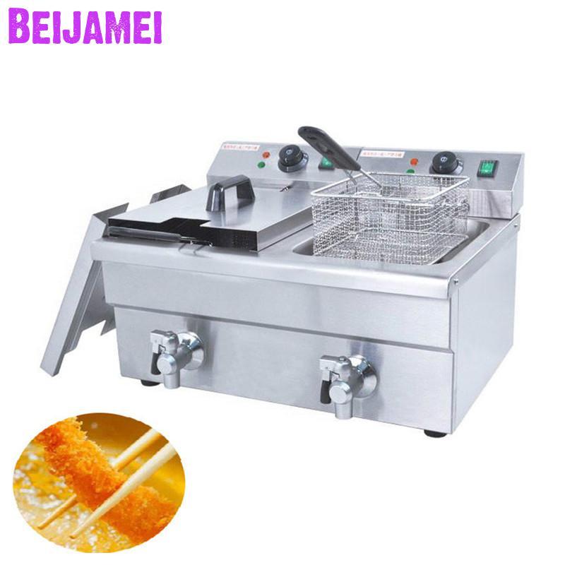 BEIJAMEI 6LFE-2 Commercial Electric Chicken Deep Fryer/Deep Oil Frying Machine/Commercial Potato Chips Deep FryerBEIJAMEI 6LFE-2 Commercial Electric Chicken Deep Fryer/Deep Oil Frying Machine/Commercial Potato Chips Deep Fryer