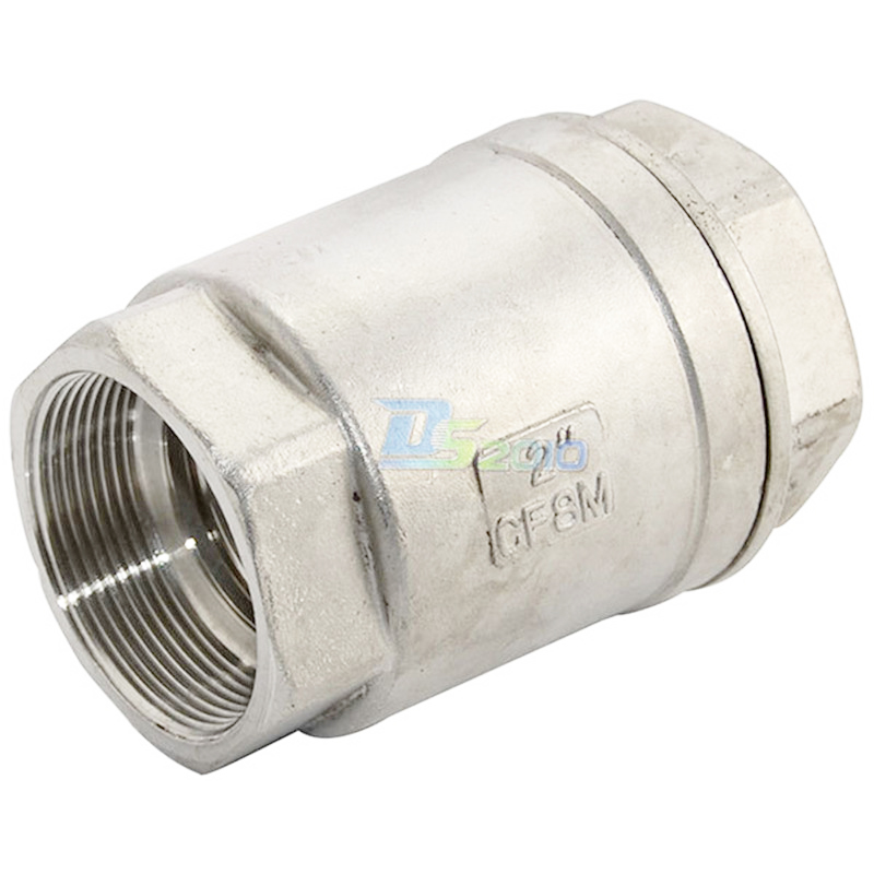 MEGAIRON BSPT 2 DN32 Stainless Steel SS316 Check Valve 1000 WOG Thread In-Line Spring Vertical Control Tool 3 4 female bspp 304 stainless steel check valve wog 1000 spring loaded in line sus ss304