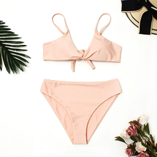 Mid Waist Swimsuit 2019 New Sexy Solid Bikinis Women Swimwear Push Up Bathing Suit Swim Summer Beach Wear Brazilian Bikini Set цена