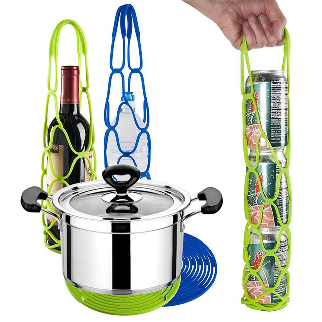 Creative Multi Function Silicone Wine Bottle Carrier Holders Hanger Heat  Resistant Hot Pad Trivet Drying