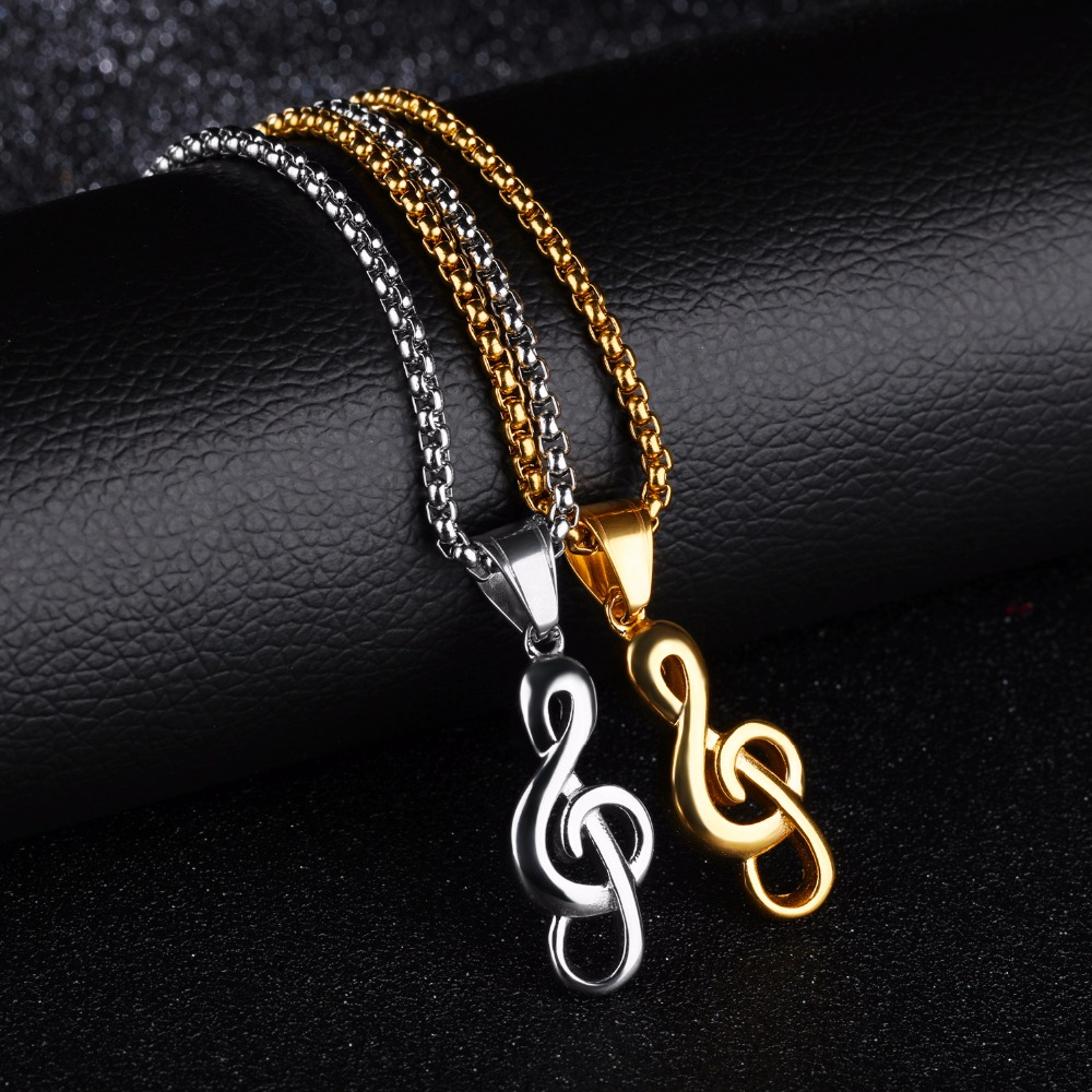 clef charm musical music gold pendant silver jewelry treble note wire watch youtube jewellery