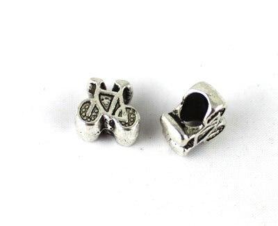 FREE SHIPPING 300PCS Tibetan silver Bicycle Bead Fit Charm Bracelet A14244