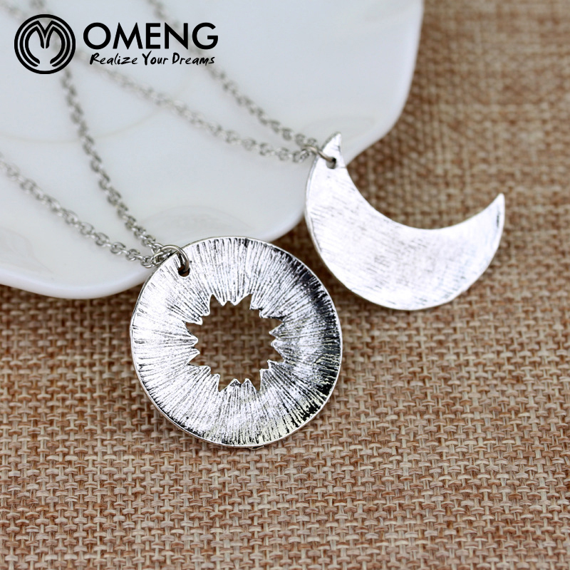 OMENG His&Hers Khal/Khaleesi Necklace Game Of Thrones Necklace Moon Of My Life,My Sun&Stars Pendant Necklace For Lovers OXL361