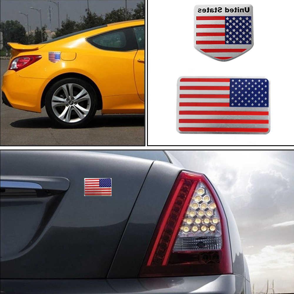 米国アメリカの国旗 3D 車のステッカー自動車のインテリアデカールバッジエンブレム車のスタイリングステッカージープ Bmw フィアット VW フォードアウディホンダトヨタ