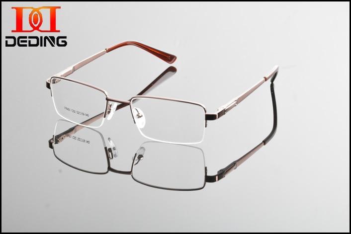 25d4f1fda318 2017 Metal Semi rimless Frame Eye Glasses Men Business Eyewear Clear Lens  Myopia Glasses Frame Armacao de Oculos de Grau DD0851-in Eyewear Frames  from ...
