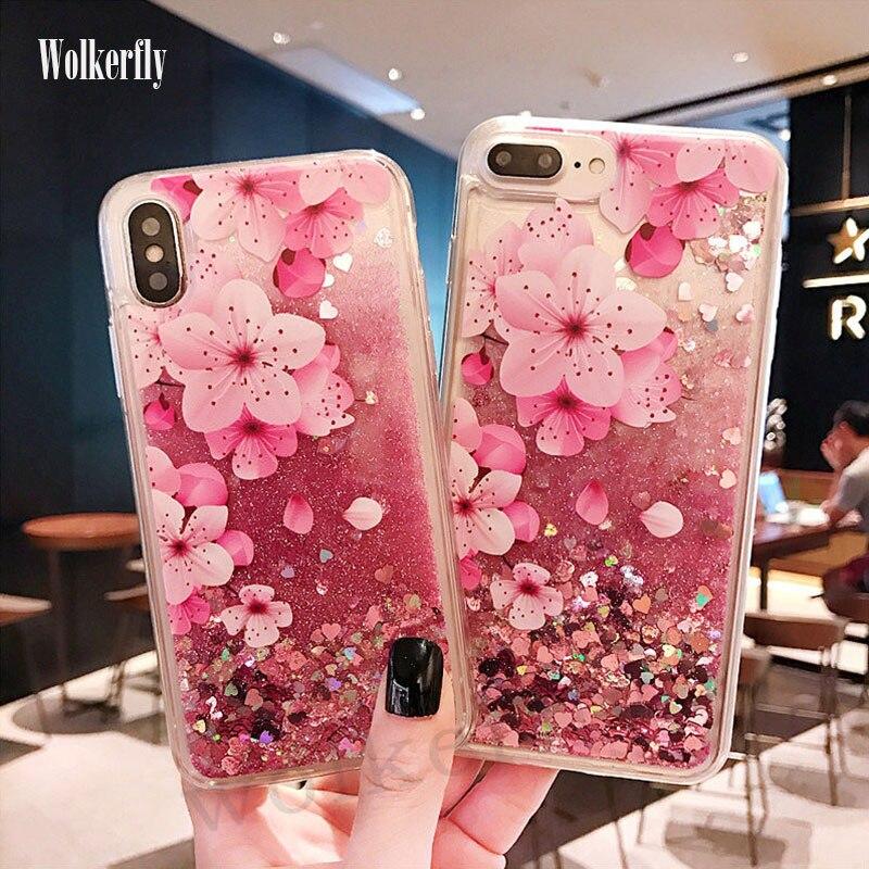 Flamingo Liquid Case For Xiaomi Redmi Note 6 5 Pro 7 4X 6A Mi A2 MI8 Lite mi9 se Glitter Dynamic quicksand Cover For Redmi 7 5