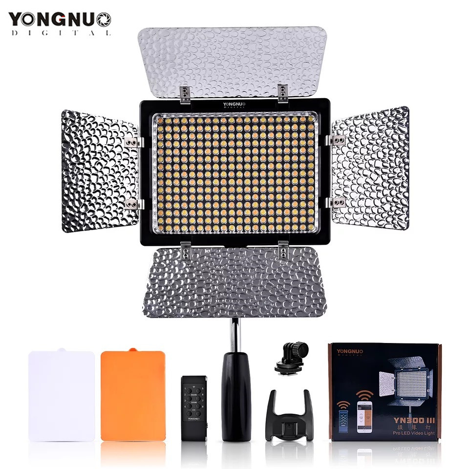 YONGNUO YN300 III YN 300 lIl 3200k 5500K CRI95 Camera Photo LED Video Light Photography Lighting for Canon Nikon & Camcorder-in Photographic Lighting from Consumer Electronics    1