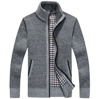 New Winter Plus Size Mens Sweaters Men Thick Long Sleeve Wool Cardigan Men Sweater Jacket Casual