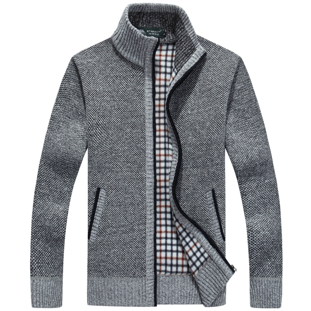 Neue winter plus größe herren pullover männer dicke langarm wolle  strickjacke männer pullover jacke beiläufige gestrickte a3efa213d9