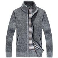 Nowa zimowa plus size męskie swetry męskie z długim rękawem o grubości wełny sweter mężczyzn sweter kurtka dorywczo sweter z dzianiny odzież