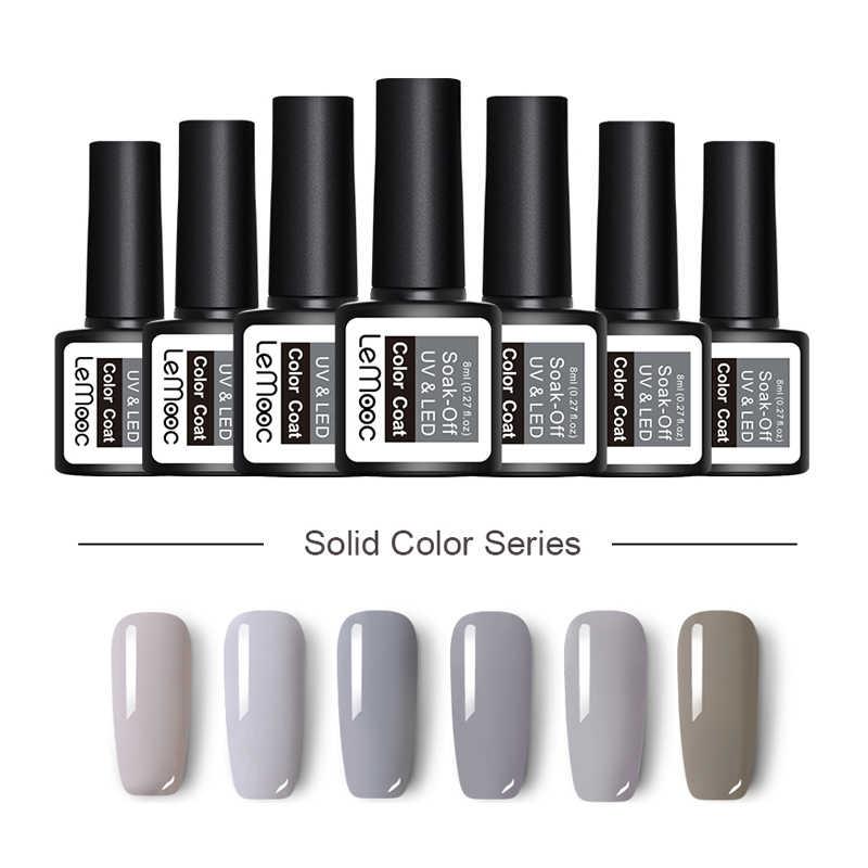 3f158273e5 LEMOOC 70 Colors Gel Nail Polish 8ml Soak Off UV Gel Pure Colros Nail Gel  Polish Professional Nail Art Manicure Nail Gel Lacquer