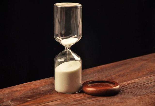 2015 New Fashion Wood Sand Holder 30 Minutes Hourglass Glass Vase