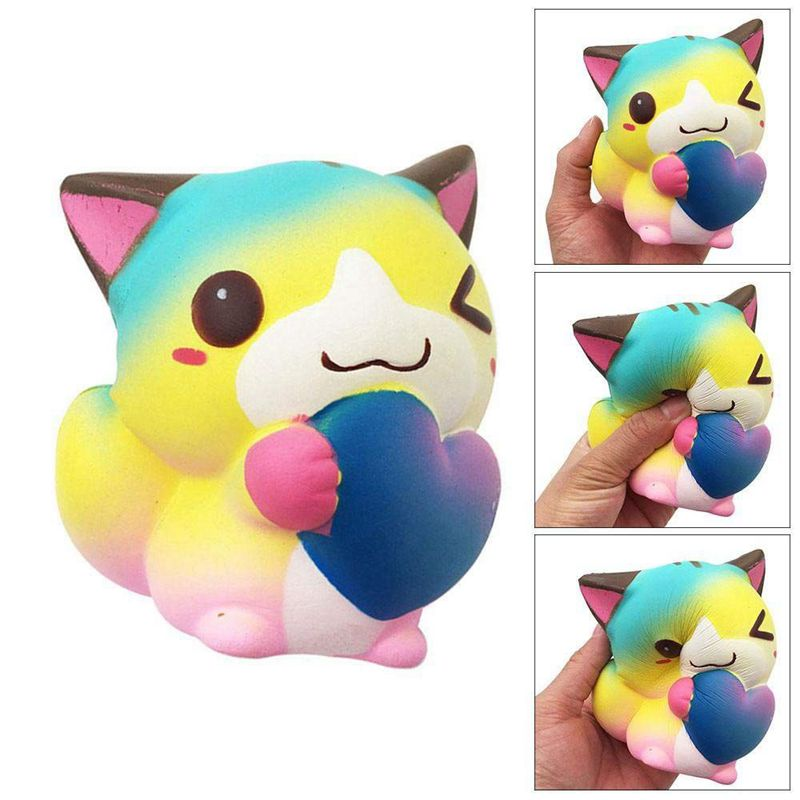 Love Cat Figurine Slow Rebound Children's Decompression Squeezing Toy Resin Process