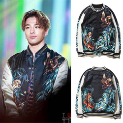 2016 new satin embroidery bomber jacket men and women black blue tiger eagle jacket coat casual.jpg 250x250