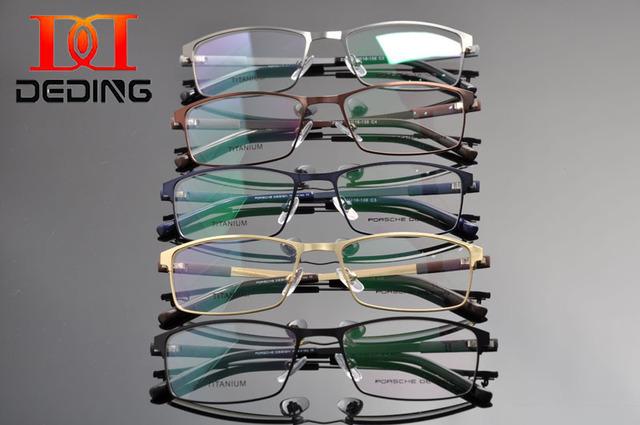 Tent DEDING 2016 hombres de la primavera bisagra de negocios miopía óptica gafas graduadas gafas anteojos Metal de marca gafas moda DD1308