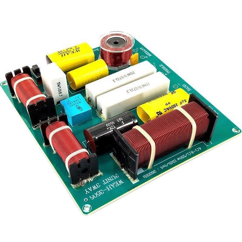 2PCS 300W 3 Way Treble Medium Bass Speaker Frequency Divider Crossover Filter