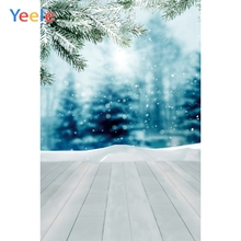 Yeele Wood Nature Winter Fallen Snow Glitter Tree Photography Backdrops Personalized Photographic Backgrounds For Photo Studio