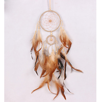Handmade Dream Catcher Car Double Circle Home Room Decoration Feathers Ornament Craft Gift Accessories
