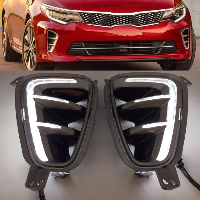 Car High Quality Led Daytime Running Light For Kia Optima K5 2016 2017 Front Per Fog