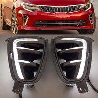 Car High Quality LED Daytime Running Light For Kia Optima K5 2016 2017 Front Bumper Fog