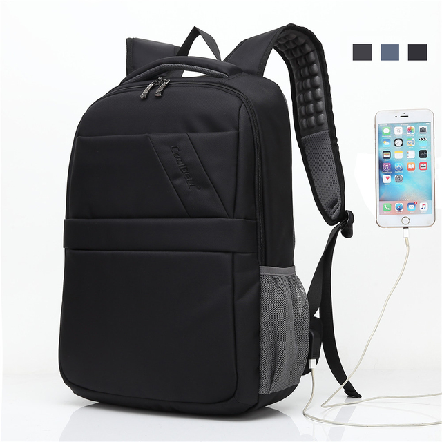 Double Shoulder Laptop Bag 15.6 inch Backpack Travel Hiking School Business  Notebook USB Computer Carrying Case for Macbook Asus d7445d405