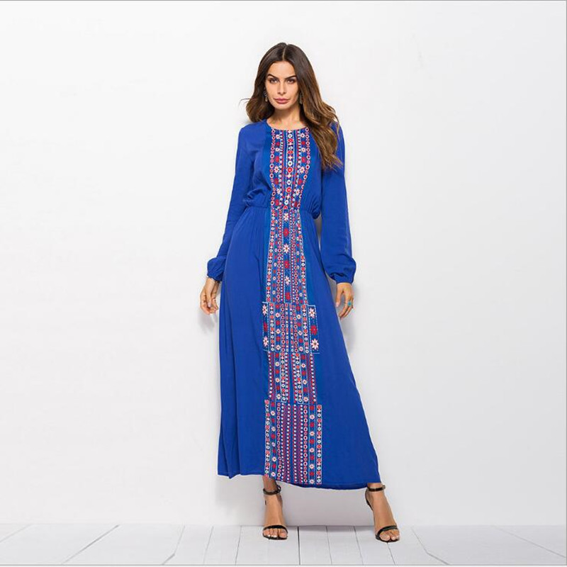 US $15.99 30% OFF PLus Size Online Shopping Ukraine Ethnic Dress Moroccan  Clothing Ukraine Autumn Dress Casual Vestidos Femininos Black Blue-in ...