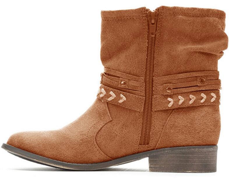 Sapato Feminino Vintage Women Boots Ankle Shoes Boutique