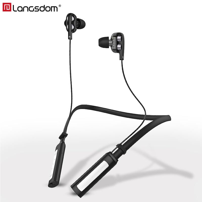 Langsdom LD4 Sport Sans Fil Écouteurs RSE 4.2 Bluetooth Casque avec Mic IPX5 Sans Fil Casque Stéréo Écouteurs pour téléphone xiaomi