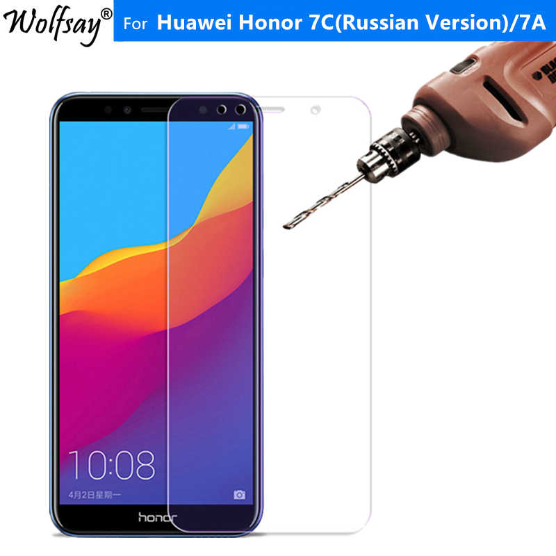2PCS Protective Glass Huawei Honor 7C Tempered Glass Honor 7C Russian Version AUM-L41 Screen Protector For Huawei Honor 7C Glass