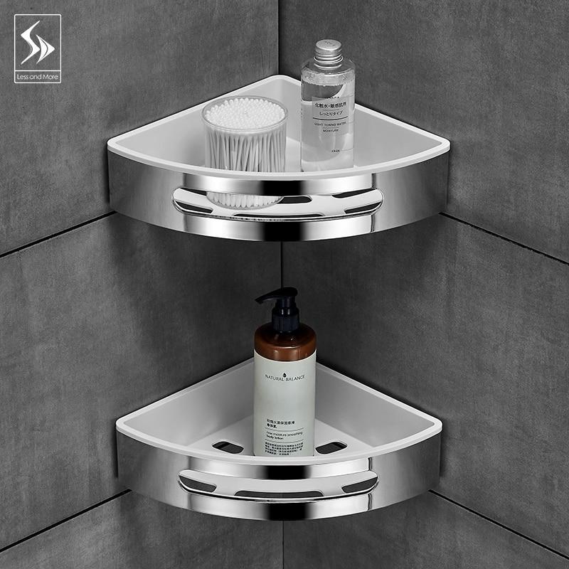 Ванная комната полка, туалетный vanity треугольная полка для ванной всасывания настенного типа не перфорированный настенная вешалка - 4
