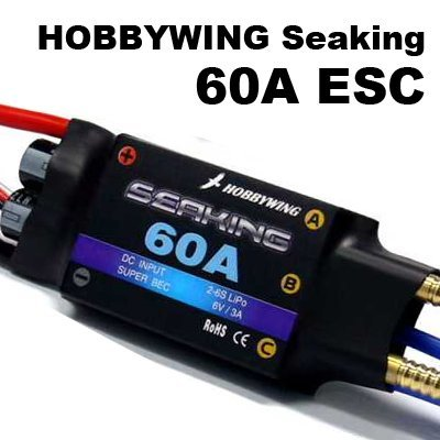 free shipping! Seaking 60A Brushless ESC for Boat