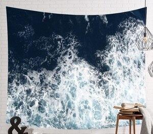 Image 5 - CAMMITEVER tapiz de elefante indio de mar azul, estampado de colores, decoración de Mandala, Alfombra de pared Bohemia, esterilla de tela de playa