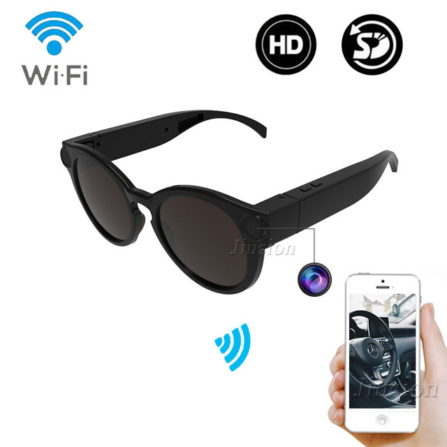 Bicycling Glasses WiFi Mini Camera HD 1080P DVR Video Audio Recorder Portable Outdoor Sport Sunglasses Cam Micro IP Camcorder