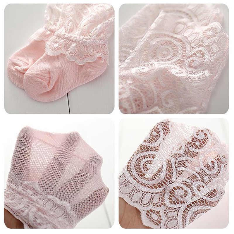 Verano bebé Calcetines malla floral con cordón pequeños calcetines de las niñas suave de algodón Niño NIÑOS Calcetines