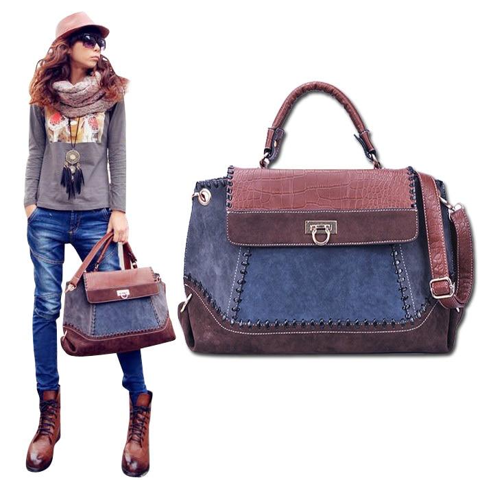 Vintage denim jeans stitching Bag women messenger bags Retro cross body Bags Girls handbag YA5 ...